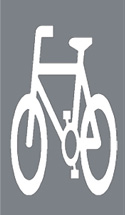 Section of road reserved for cyclists
